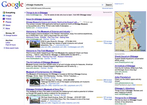 Google Places in Web Results