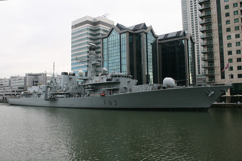 HMS St Albans in Docklands