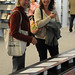 Rachel and Angela looking at the faculty biographies on display at the JSB Library's Faculty Celebration Dinner, April 2009.