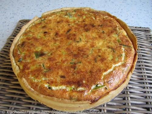 Lauch-Quiche mit dreierlei Käse 001
