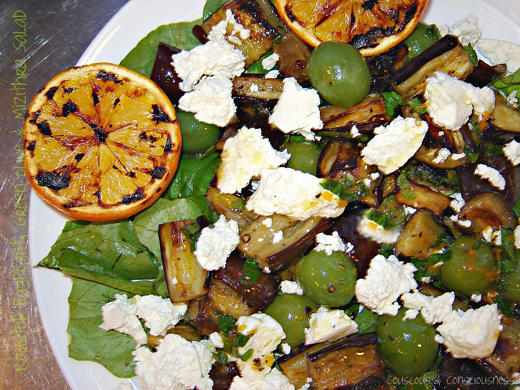 Roasted Eggplant, Green Olive & Mizithra Salad 1, edited
