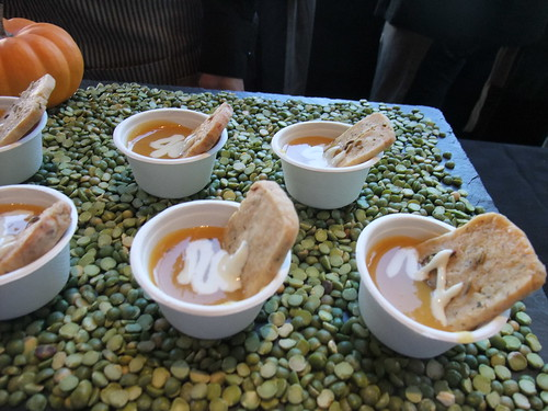 SFO Day 2: Squash Soup with Herbed Shortbread