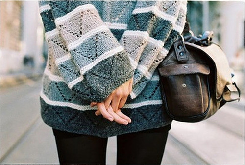 Oversized sweaters, I am a fan