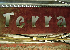 terra (piktorio) Tags: berlin sign metal wall typography iron offshore letters rusty negative terra mitte corrosion