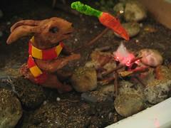 bunny camping (detail) - by Rakka
