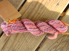 Three-ply hand dyed and spun