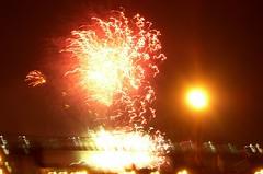 Le pont Jacques-Cartier en feu