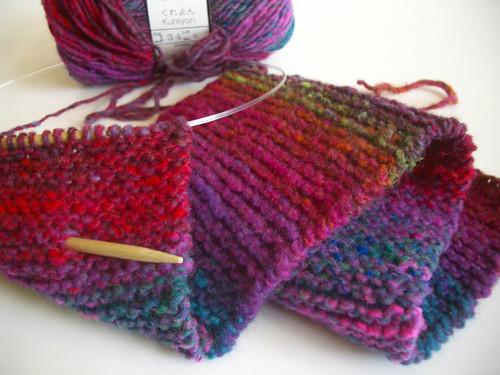 kureyon garter scarf