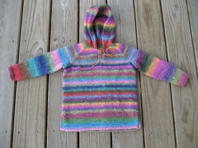 ella's hoodie, ready to block