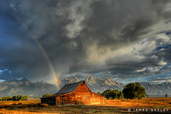 Promise of a New Day (James Neeley) Tags: storm landscape rainbow bravo searchthebest quality tetons hdr grandtetonnationalpark mormonrow magicdonkey flickr2 5xp outstandingshots moultonbarn mywinners anawesomeshot superaplus aplusphoto superbmasterpiece diamondclassphotographer flickrdiamond jamesneeley frhwofavs mortonbarn great123