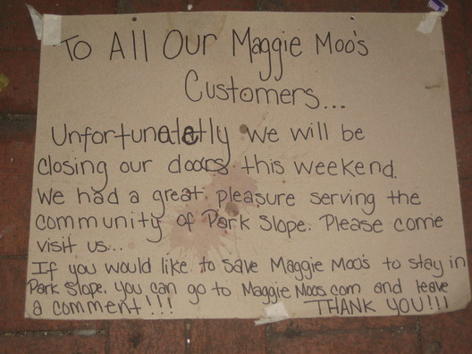 Save the Park Slope Maggie Moos