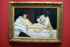 Paris - Muse d'Orsay: Manet's Olympia (wallyg) Tags: paris france art museum painting europe muse olympia impressionism orsay impressionist museedorsay dorsay manet musedorsay orsaymuseum edouardmanet frenchimpressionism frenchimpressionist