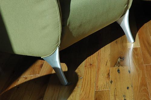 Isilon anteroom, modern chair, Seattle, Washington by Wonderlane