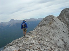 Me walking along (Dave MacDonald) Tags: rockymountains scramble peterlougheedprovincialpark mtindefatigable kananaskislakes