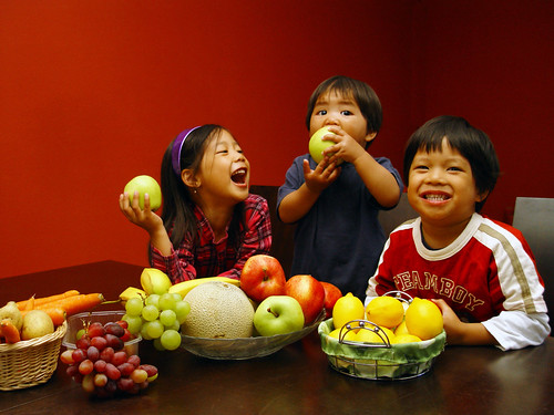 fruits and kids
