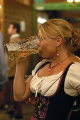 Got Beer? (a4gpa) Tags: woman beer festival germany munich nikon oktoberfest d100 stein 50mmf14d