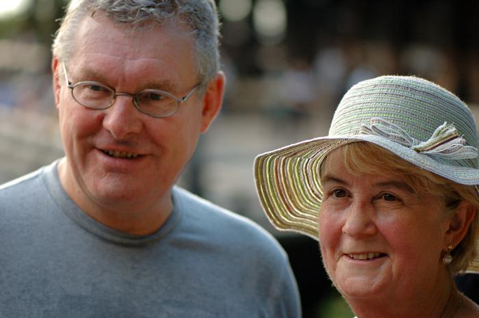 清水寺的英國夫婦