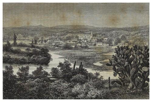 012-Vista del valle de Tula desde el palacio Tolteca-Mexico-Les Anciennes Villes du nouveau monde-1885- Désiré Charnay
