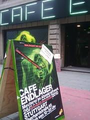 Café Endlager, Stuttgart: Vor dem Eingang