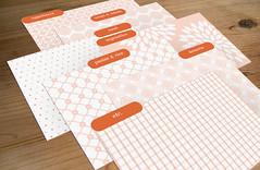 Cherry blossom & Dahlia 6x4 dividers (alabouffe) Tags: divider printable editable recipecard