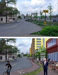 concept for the Sheridan Expressway corridor, a TIGER II awardee in NYC (by: Southern Bronx River Watershed Alliance)