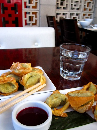 Blue cheese wontons for lunch at Chow Tory Street