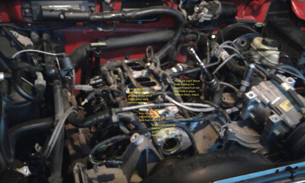 Mustang Thermostat Housing  bolts 3 bolts per order Ranger Explorer