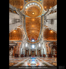 Room for Confessions - St. Peters Basilica, Vatican (HDR Vertorama) (farbspiel) Tags: travel vacation panorama holiday vatican rome history tourism photoshop logo geotagged religious temple photography ancient nikon worship religion belief wideangle historic holy journey blended handheld stitching photomerge vat spiritual rom stitched dri hdr highdynamicrange watermark hdri blend stpetersbasilica vaticancity superwideangle petersdom 10mm postprocessing dynamicrangeincrease ultrawideangle d90 photomatix digitalblending wasserzeichen tonemapped tonemapping watermarking detailenhancer vertorama topazadjust topazdenoise klausherrmann topazsoftware sigma1020mmf35exdchsm topazphotoshopbundle geo:lat=4190253257 geo:lon=1245328188