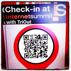 QR Code check-in signs