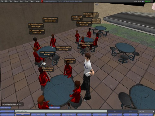 Filming the soldiers in the cafeteria