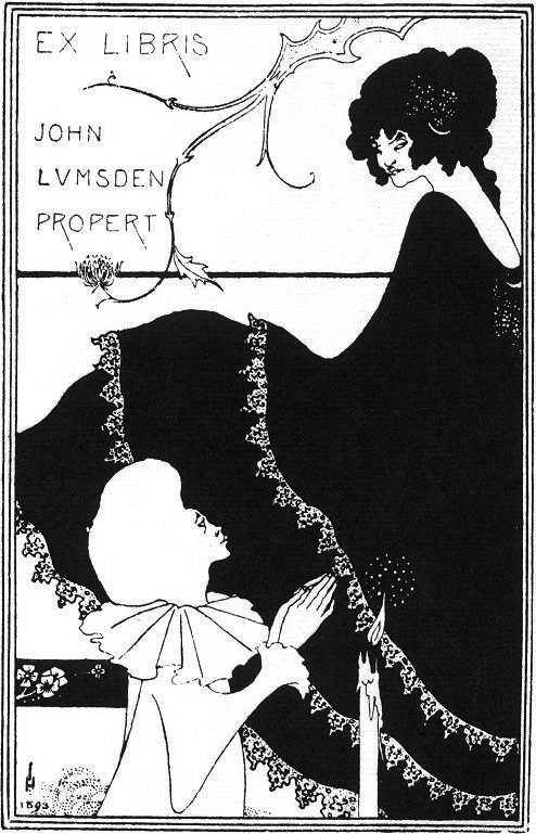 Aubrey Beardsley, Book-plate design, 1894