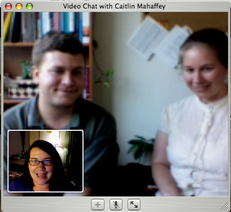 Video chatting with Caitlin & Scott!