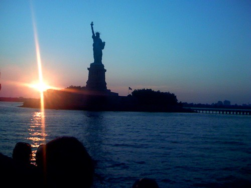 The Statue of Liberty at Dusk