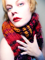 model: helveticaneue (Sexy Swedish Babe) Tags: selfportrait color me scarf knitting blueeyes blonde scarves helveticaneue nudish ssb sexyswedishbabe nekkit 20062007 thefloorlamp lovethecolorpalette