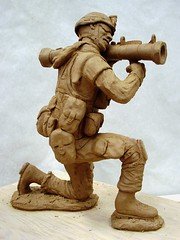 Rocket Launcher - right side (sfclay) Tags: sculpture art ceramic soldier war iraq clay stoneware rocketlauncher greenware