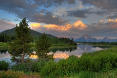 Morning Light (Jeff Clow) Tags: morning mountains river landscape early bravo searchthebest wyoming mountmoran soe hdr