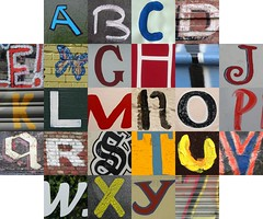 Hand-painted letters