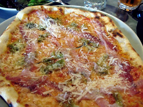 Mmm..... Pizza with Pancetta and Peppers