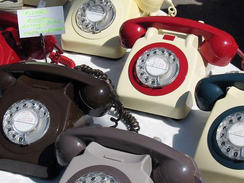 Old British telephones by givepeasachance.