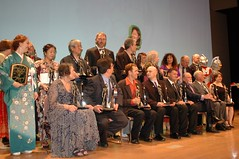 The formal seating of the winners