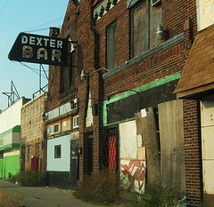 Dexter Bar on Dexter Avenue in Downtown Detroit (DetroitDerek Photography ( ALL RIGHTS RESERVED )) Tags: summer urban favorite usa color building brick abandoned sign bar book interesting downtown neon fuji drink decay michigan urbandecay detroit ruin rusty alcohol vacant bleak dexter amateur crusty blight dilapidated globalvillage 2007 eminem publish 313 damncool motown thewayiam billbaord exposuredetroit aplusphoto aclassphoto flickrphotoaward excapture