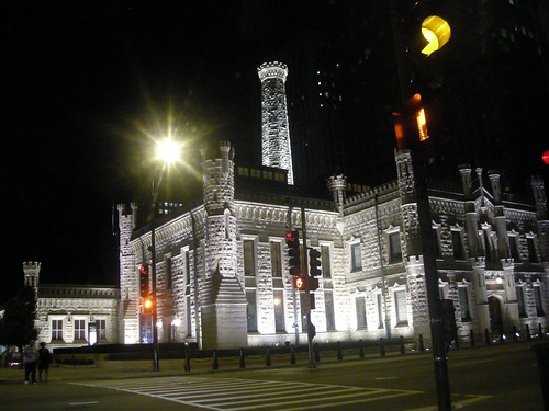 Chicago Historic Water Tower NIght View