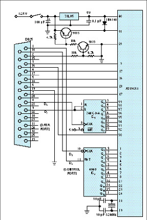 Microcontroller at89c51 on microcontroller and microprocessor pc