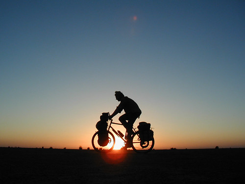 Sunset cycling in Sudan