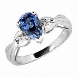 hite Gold with Cut Ceylon Sapphire and Diamonds Ring | Diamond Jewelry Collection