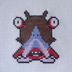 Droll (benjibot) Tags: crossstitch crafts videogames crop nes dragonwarrior reshoot