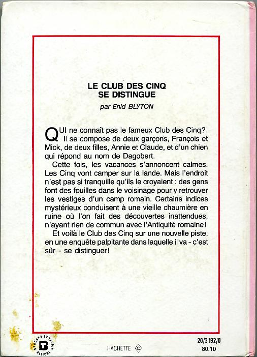 Le Club des Cinq se distingue, by Enid BLYTON