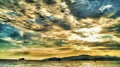 Sunset on Sea Wall in Stanley Park HDR