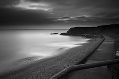 2610-6 (chillie 63) Tags: longexposure sea white black beach water clouds coast seaside waves harbour sony north line east daytime seaham a500 weldingglass chillie63