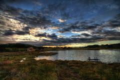 Les Salins 2 (marcovdz) Tags: sunset house france beach clouds pond provence nuages maison plage hdr tang sainttropez coucherdusoleil 3xp lessalins